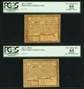 Colonial Notes:Rhode Island, Rhode Island July 2, 1780 $2; $3 PCGS Apparent Very Choice New 64..... (Total: 2 notes)