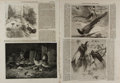 Art:Illustration Art - Mainstream, [Engravings]. Group of Four Engravings from The IllustratedLondon News, ca. 1850's, 1860's. Some toning. Foxing...