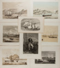 Art:Illustration Art - Mainstream, [Engravings]. Group of Eight Nautical Engravings, ca. 1860's.Largest measures 11 x 8.25 inches. Light toning. Minor foxing ...