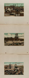 Miscellaneous:Postcards, [Postcards]. Group of Three Historic Panama Canal Postcards. 5.5 x3.5 inches. Pasted to paper. Some toning. Very good....