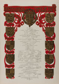 Art:Illustration Art - Mainstream, [Print]. Genealogical Table of the Kings and Queens of England, ca. 1902. Image from The Illustrated London Ne...