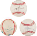 Baseball Collectibles:Balls, Clark, Grace and McGwire Single Signed Baseballs Lot of 3....