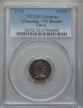 Early Half Dimes, 1795 H10C -- Cleaning -- PCGS Genuine. VF Details. V-5, LM-8,R.3....