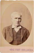 "Photography:Cabinet Photos, [Texas Rangers]. William ""Bigfoot"" Wallace Cabinet Card,circa 1880s. ..."