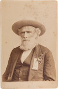 "Photography:Cabinet Photos, [Texas Rangers]. William ""Bigfoot"" Wallace Cabinet Card, circa 1880s...."