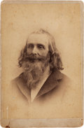 "Photography:Cabinet Photos, [Texas Rangers]. James ""Buck"" Barry Cabinet Card Photograph,circa 1875. ..."