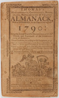 Books:Pamphlets & Tracts, [Almanac]. Thomas' Massachusetts, Connecticut, Rhode Island,Newhampshire & Vermont Almanack, with an Ephemeris, forthe...