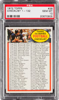 Football Cards:Singles (1970-Now), 1972 Topps Checklist 1-132 #29 PSA Gem Mint 10 - Pop Two! ...