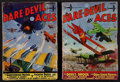 """Movie Posters:War, Dare-Devil Aces (Popular Publications, 1930s). Pulp Magazines (2) (Multiple Pages, 7"""" X 10""""). War.. ... (Total: 2 Items)"""
