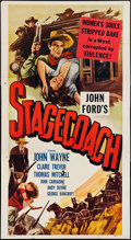 "Movie Posters:Western, Stagecoach (Masterpiece Productions, R-1948). Three Sheet (41"" X 79""). Western.. ..."