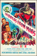 "Movie Posters:Science Fiction, Invaders from Mars (20th Century Fox, 1955). One Sheet (27"" X 41"").Science Fiction.. ..."