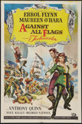 """Movie Posters:Swashbuckler, Against All Flags (Universal International, 1952). One Sheet (27"""" X 41""""). Swashbuckler.. ..."""