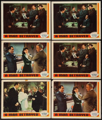 "A Man Betrayed (Republic, 1941). Lobby Cards (6) (11"" X 14""). Mystery. ... (Total: 6 Items)"