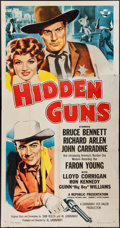 """Movie Posters:Western, Hidden Guns & Others Lot (Republic, 1956). Three Sheets (2) (41"""" X 79"""") & One Sheet (27"""" X 41""""). Western.. ... (Total: 3 Items)"""