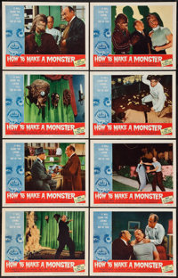 """How to Make a Monster (American International, 1958). Lobby Card Set of 8 (11"""" X 14""""). Horror. ... (Total: 8 I..."""