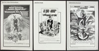 "The Spy Who Loved Me & Others Lot (United Artists, 1977). Cut and Uncut Pressbooks (4) (Multiple Pages) (11""..."