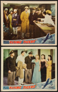 """Movie Posters:War, Flying Tigers (Republic, 1942). Lobby Cards (2) (11"""" X 14""""). War..... (Total: 2 Item)"""