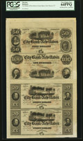 Obsoletes By State:Connecticut, New Haven, CT- The City Bank of New Haven $50-$100-$20-$20 G84c-G92c-G76c-G76c X6 Uncut Remainder Sheet. ...