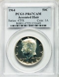 Proof Kennedy Half Dollars: , 1964 50C Accented Hair PR67 Cameo PCGS. PCGS Population (219/104).NGC Census: (349/214). Numismedia Wsl. Price for proble...
