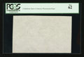 "Fractional Currency:First Issue, ""CSA"" Watermarked Paper - Single Block. PCGS New 62.. ..."