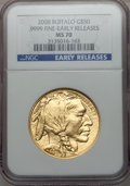 Modern Bullion Coins, 2008 $50 One-Ounce Gold Buffalo, Early Releases MS70 NGC. .9999Fine. NGC Census: (7472). PCGS Population (491). Numismedi...
