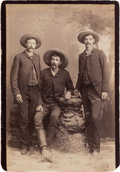 Photography:Cabinet Photos, Joseph Walter Durbin and Two Other Texas Rangers Cabinet Card,circa 1886....