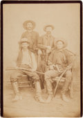 Photography:Cabinet Photos, [Texas Rangers]. Joseph Walter Durbin with Three Other TexasRangers Cabinet Card, circa 1887....