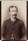 Autographs:Statesmen, [Texas Rangers]. Private J. W. Owens Signed Cabinet Card,circa 1886....