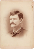 Photography:Cabinet Photos, [Texas Rangers]. James Martin Sedberry Cabinet Card, circa1885....