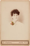 Photography:Cabinet Photos, Cabinet Card of the Girlfriend of Texas Ranger Jim R. Robinson,circa 1880s....