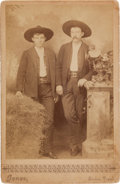Photography:Cabinet Photos, [Texas Rangers]. James William Durbin and James D. Sparks CabinetCard, circa 1890....