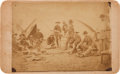 "Photography:Stereo Cards, [Texas Rangers]. Frontier Battalion Company ""D"" at Mealtime Boudoir Card, circa 1888...."