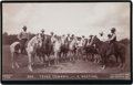 Photography:Stereo Cards, [Texas Rangers]. J. A. Brooks and Frontier Battalion Boudoir Card, circa 1890s. ...