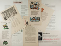 [Poetry]. Group of Eight Hand Printed Broadsides. Largest measures 14 x 20 inches. Includes several fine printings of