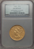 Liberty Eagles: , 1841 $10 -- Improperly Cleaned -- NCS. AU Details. NGC Census:(24/94). PCGS Population (16/41). Mintage: 63,131. Numismedi...