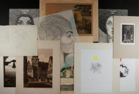 [Original Art]. Group of Ten Prints and Sketches. Various artists. Largest measures 15 x 20 inches including mat. Pri