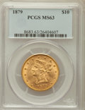 Liberty Eagles: , 1879 $10 MS63 PCGS. PCGS Population (29/11). NGC Census: (29/14).Mintage: 384,770. Numismedia Wsl. Price for problem free ...
