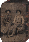 "Photography:Tintypes, [Texas Rangers]. William ""Bigfoot"" Wallace and Andrew JacksonSowell Tintype, circa 1898...."