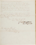 Autographs:U.S. Presidents, [Benjamin McCulloch] and [Mexican War]. Zachary Taylor Letter Signed...