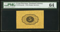Fractional Currency:First Issue, Fr. 1231SP 5¢ First Issue PMG Choice Uncirculated 64.. ...