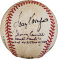 Baseball Collectibles:Balls, 1991 Dennis Martinez Perfect Game Used Baseball Signed by Koufax....