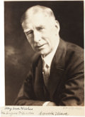 Autographs:Others, Circa 1940 Connie Mack Signed Photograph....