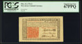 Colonial Notes:New Jersey, New Jersey March 25, 1776 3s PCGS Superb Gem New 67PPQ.. ...
