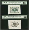 Fractional Currency:First Issue, Fr. 1243SP 10¢ First Issue PMG Gem Uncirculated 65 EPQ and Choice Uncirculated 63.. ... (Total: 2 notes)