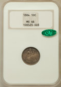 Seated Dimes, 1884 10C MS66 NGC. CAC....