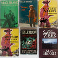 Books:Pulps, [Western]. Max Brand. Group of Six. Various publishers. Most fromthe 1950's, with original prices intact on dj's. One addit...(Total: 6 Items)