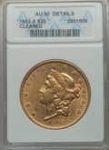 Liberty Double Eagles: , 1862-S $20 -- Cleaned -- ANACS. AU50 Details. NGC Census:(101/403). PCGS Population (77/134). Mintage: 854,173.Numismedia...