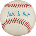 Autographs:Baseballs, Circa 1980 Waite Hoyt Single Signed Baseball. ...
