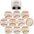 Autographs:Baseballs, Baseball Greats Single Signed Baseball Lot Of 11....