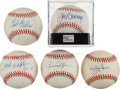 Autographs:Baseballs, Pitching Greats Single Signed Baseballs Lot Of 5. ...